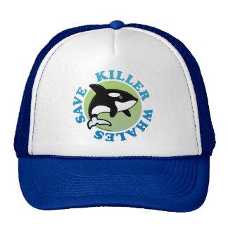 Ahorre las orcas gorros bordados