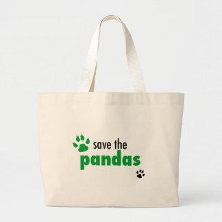 Ahorre las pandas bolsas