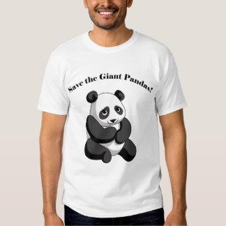 ¡Ahorre las pandas gigantes! Poleras