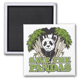 Ahorre las pandas imán de frigorífico