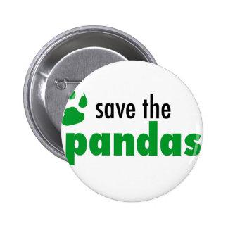 Ahorre las pandas pin redondo de 2 pulgadas