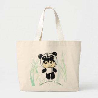 ¿Ahorre las pandas satisfacen Bolsas Lienzo