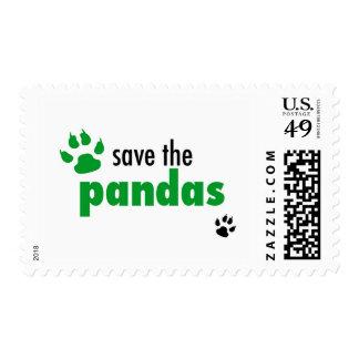 Ahorre las pandas sellos