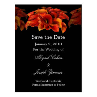 Ahorre las postales de la fecha, lillies anaranjad