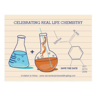 Ahorre las postales de la química de la fecha