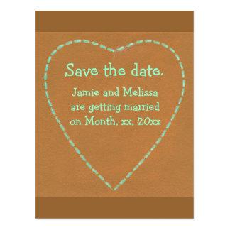 Ahorre las postales del boda de la fecha, corazón