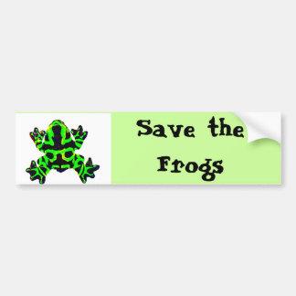 ahorre las ranas ahorre las ranas pegatina de parachoque