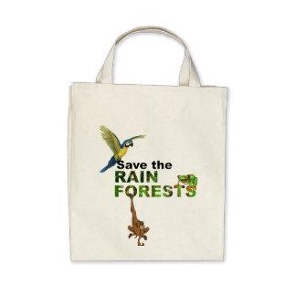 Ahorre las selvas tropicales bolsa
