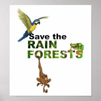 Ahorre las selvas tropicales póster