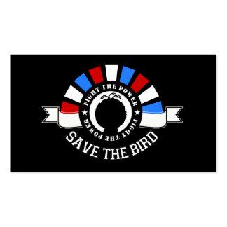 Ahorre las tarjetas 2012 de la elección del pájaro plantillas de tarjetas de visita