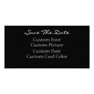 Ahorre las tarjetas de fecha (su diseño) tarjeta fotográfica