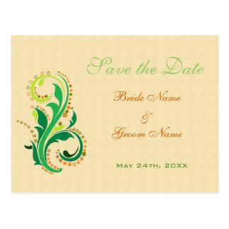 Ahorre las tarjetas postales de la fecha para los
