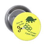 Ahorre las tortugas cortan seis anillos del paquet pin