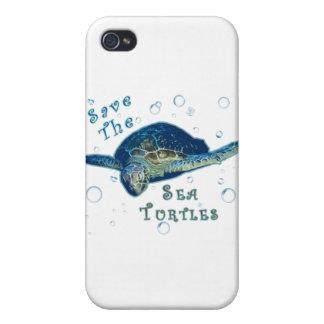 Ahorre las tortugas de mar iPhone 4/4S funda
