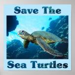 Ahorre las tortugas de mar impresiones