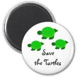 Ahorre las tortugas imanes de nevera