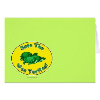 Ahorre las tortugas pequenitas tarjeta pequeña