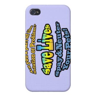 ¡Ahorre las vidas Spay y neutralizan a sus mascota iPhone 4 Cárcasas