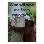Ahorre los animales de tarjeta de la extinción