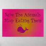 Ahorre los animales posters