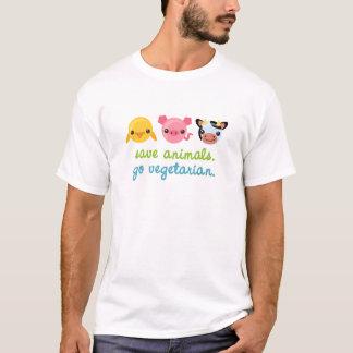 Ahorre los animales van vegetariano playera