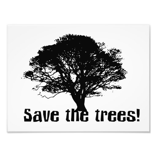 Ahorre los árboles cojinete