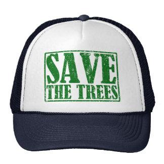 Ahorre los árboles gorros bordados