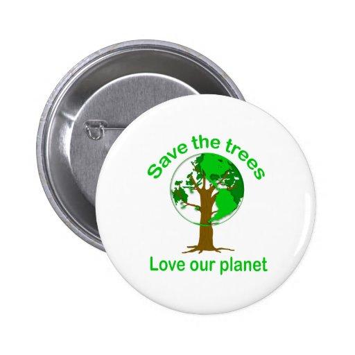 ahorre los árboles pin