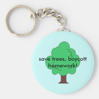 ¡ahorre los árboles, preparación del boicoteo! llavero redondo tipo pin