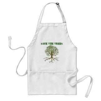 Ahorre los árboles V2 Delantal