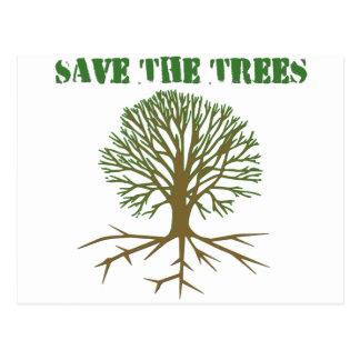 Ahorre los árboles V2 Tarjetas Postales