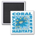 Ahorre los arrecifes de coral imán de nevera