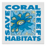 Ahorre los arrecifes de coral posters