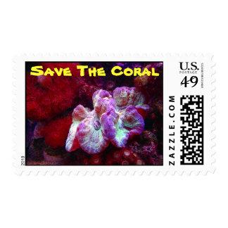 Ahorre los arrecifes de coral franqueo