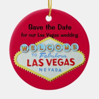 Ahorre los bodas de Vegas de la fecha Ornaments Para Arbol De Navidad