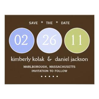 Ahorre los círculos de la fecha anuncio personalizado