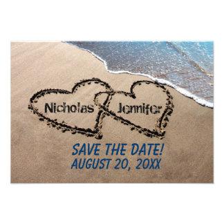 Ahorre los corazones de la fecha en la invitación