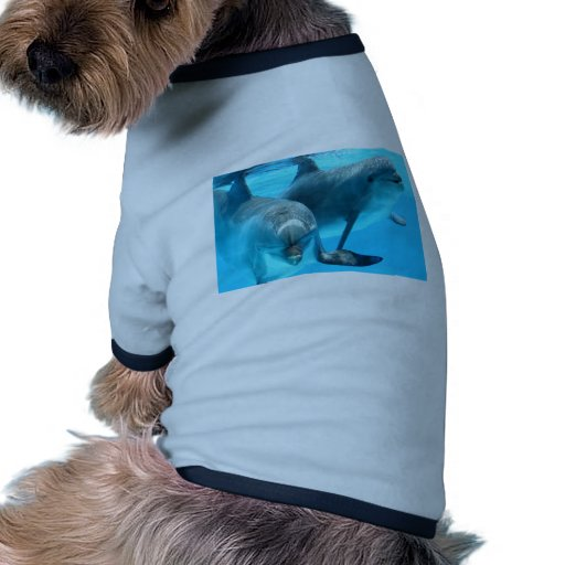 Ahorre los delfínes camiseta con mangas para perro