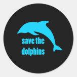 Ahorre los delfínes pegatina