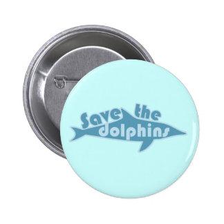 Ahorre los delfínes pin redondo de 2 pulgadas