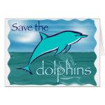Ahorre los delfínes tarjeta de felicitación
