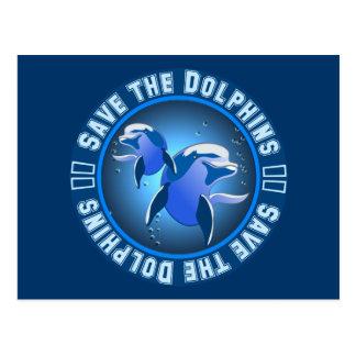 Ahorre los delfínes tarjeta postal