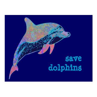 ahorre los delfínes tarjetas postales