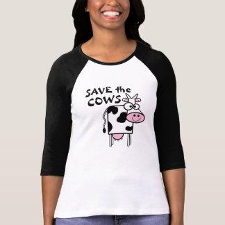 Ahorre los derechos de los animales de las vacas playera