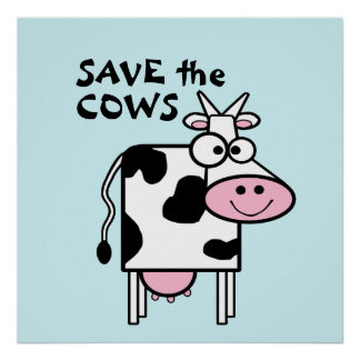 Ahorre los derechos de los animales lindos de las poster