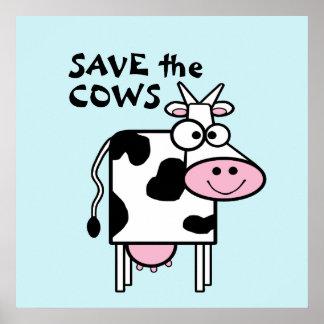 Ahorre los derechos de los animales lindos de las póster