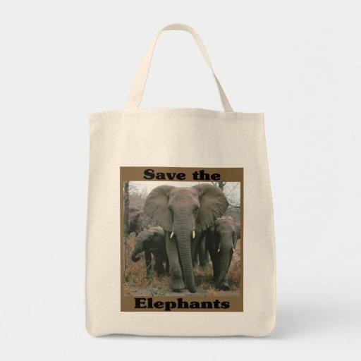 Ahorre los elefantes bolsas
