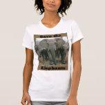Ahorre los elefantes camisetas