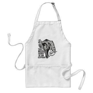 Ahorre los elefantes delantal