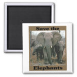 Ahorre los elefantes iman de nevera